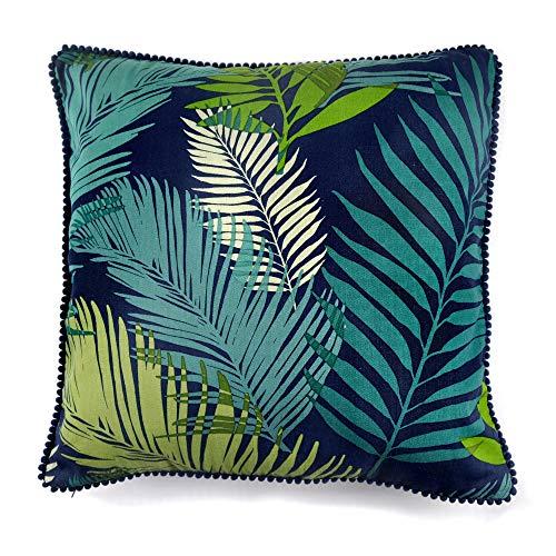 Fusion - Tropical - 100% Cotton Cushion Cover - 43x43cm (17x17') in Multicolour