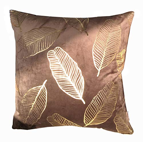 ZUODU Brown Velvet Cushion Cover Sofa Home Decor Pillow Case Cushion Covers for Bedroom Car with Invisible Zipper Crown Cushion Decorative 45 x 45 CM (Velvet-Brown)