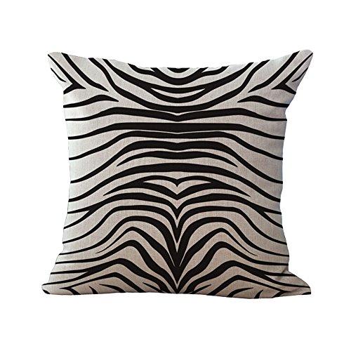 Hengjiang WEIANG Animal Textures Series Pillow Cover Cotton Sofa Decor Throw Pillowcase Sham Decor Cushion Cover Animal Pattern (Zebra pattern 08)