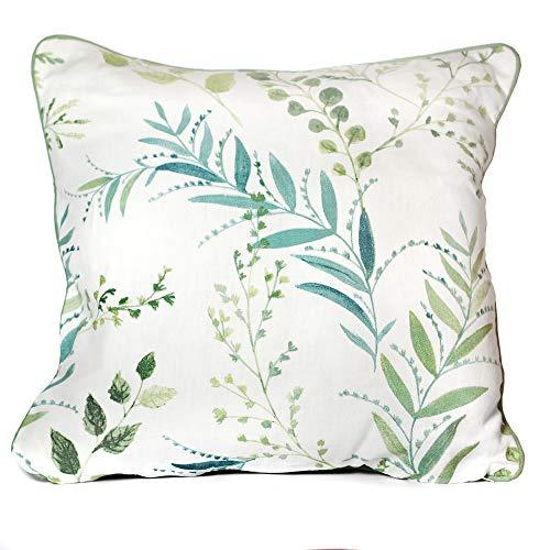 Fusion Fernworthy-100, 100% Cotton, Green, Cushion Cover