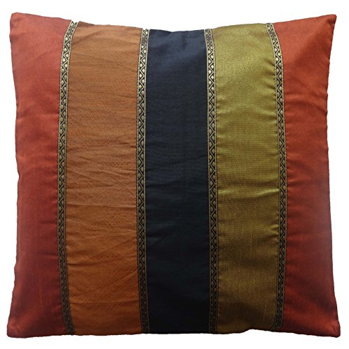 Cc39 16' Poly Silk Multicolor Pillow Case Throw Cushion Cover COVER ONLY, Not Stuffed , Insert not Included