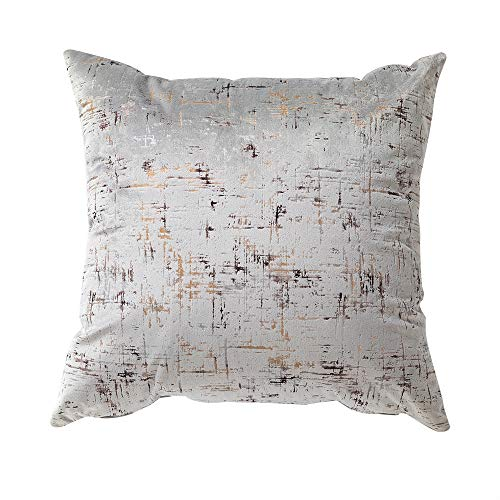 Style My New Build Luxury Velvet Cushion Cover 45 x 45 cm with concealed Zip in Silver
