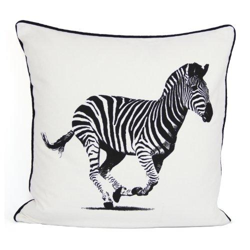 A&R ARLINENS 100% Cotton's Luxury Cushion Cover Design ZEBRA Size 18'x18'