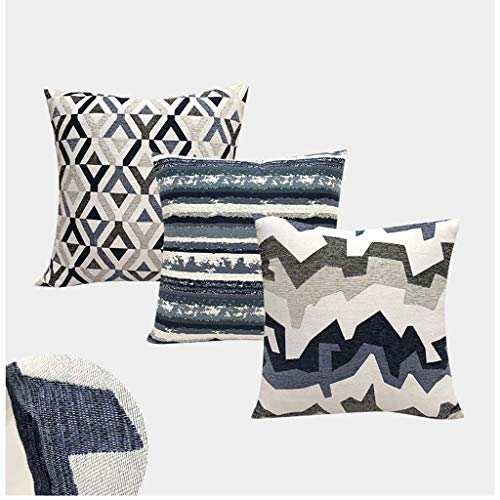 DMGY 3 Pack Pillow Protector Covers 45 X 45Cm, Linen Decorative Cushion Throw Pillow Case Protector Set Car Pillow Covers for Sofa Bedroom Decoration