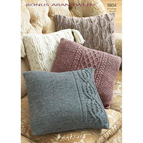 Pillow Cases in Hayfield Bonus Aran Tweed with Wool - 9804