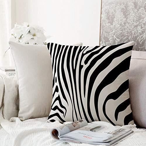 Decorative Pillowcase Throw Pillow Cushion Cover,Zebra Print,Zebra Animal Skin Pattern Nature Desert Life Theme Simple Stylish Illustration Decorative,Throw Pillow Case, Home Sofa Bedroom Decoration