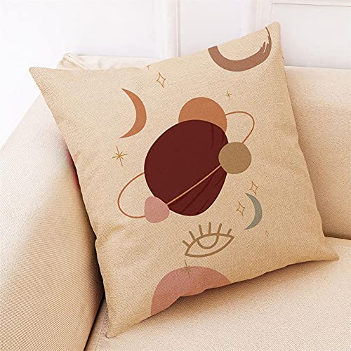 YINGZG Cushion Covers 35x35cm 14x14 Inch Abstract Art Square Throw Pillow Case Linen Cotton Cushion Covers with Invisible Zipper Decorative Cushion Covers for Sofa Bedroom Z1283