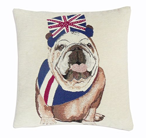 EHC Royal Bull Dog Decorative Sofa Bed Cushion Cover Pillow Case