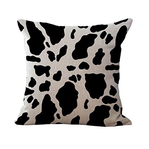 Hengjiang WEIANG Animal Textures Series Pillow Cover Cotton Sofa Decor Throw Pillowcase Sham Decor Cushion Cover Animal Pattern (Cow pattern 11)
