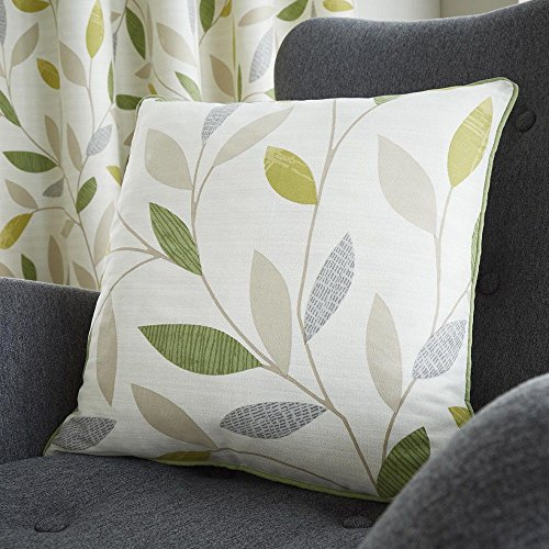 Fusion Cushion Cover, 100% Cotton, Green, 43x43 cm (Pack of 1)