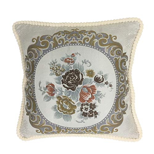 DaiHan Traditional Cushion Cover with Cushion Inners, Cushion Pads Pillow Pads for Sofa, Bedding & Couch,Grey,58x58CM