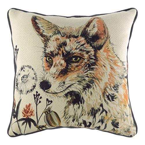 Evans Lichfield Elwood Fox Cushion Cover, Multi, 43 x 43cm