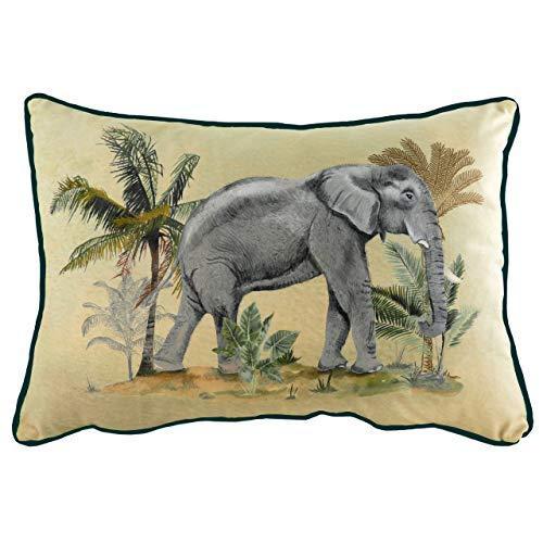 Evans Lichfield Kibale Elephant Cushion Cover, Multi, 35 x 50cm