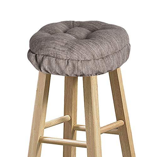 baibu Round Stool Covers, Super Soft Round Bar Stool Cushion Covers Seat Cushion - Cushion Only (Brown,12' (30cm))