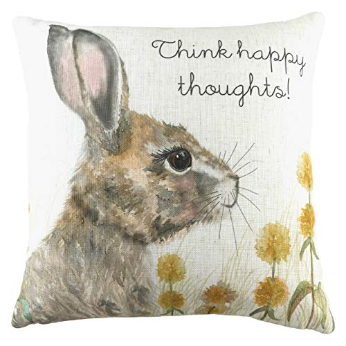 Evans Lichfield Woodland Hare Thoughts Cushion Cover, Multi, 43 x 43cm