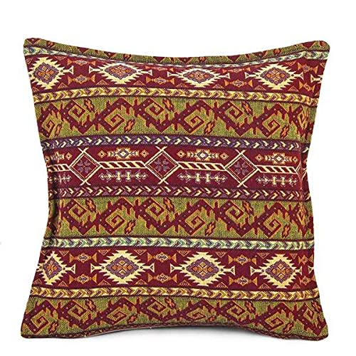 Hand-woven Kilim Cushion Cover Turkish Moroccan Style Traditional Vintage Cushion Cover Authentic Design 45cm x 45cm