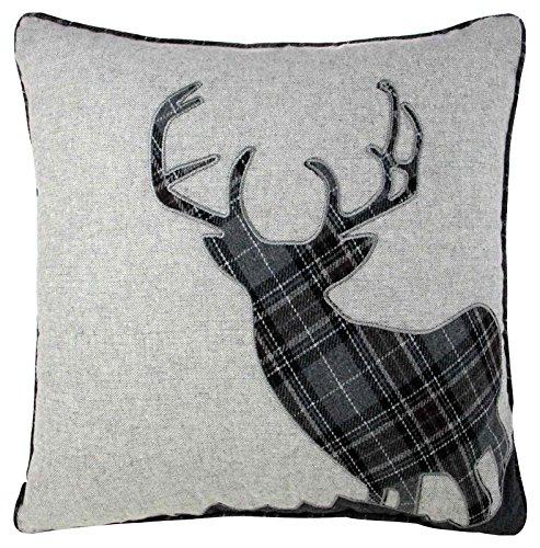 Stag Wool Cushion Covers, Cushions, 18'x18' 45cmx45cm, Charcoal Grey