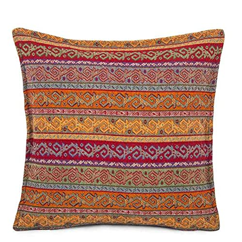 Hand-woven Kilim Cushion Cover Turkish Moroccan Style Traditional Vintage Cushion Cover 45cm x 45cm