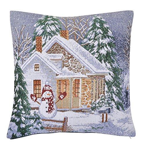 Mr Crimbo Christmas Scene Cushion Cover Pillow Case Square 45 x 45cm Xmas Festive Décor