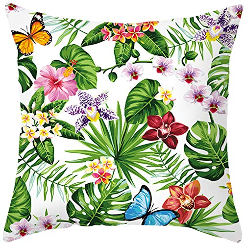 Miyoopark Green Plant Pillow Covers Floral Watercolor Pineapple Cushion Cases 18x18 13#