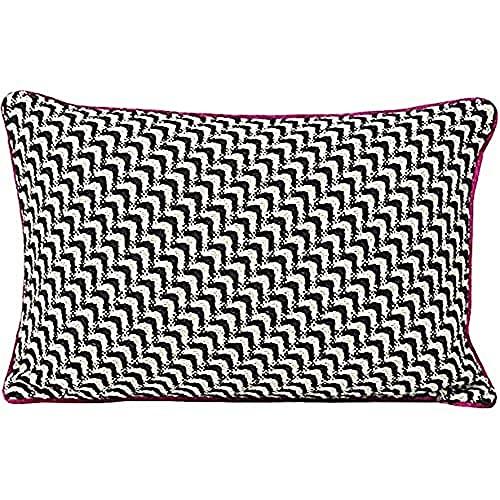 Riva Paoletti 'Monochrome Knit' Cushion Covers, Fuchsia, 35 X 50 Cm