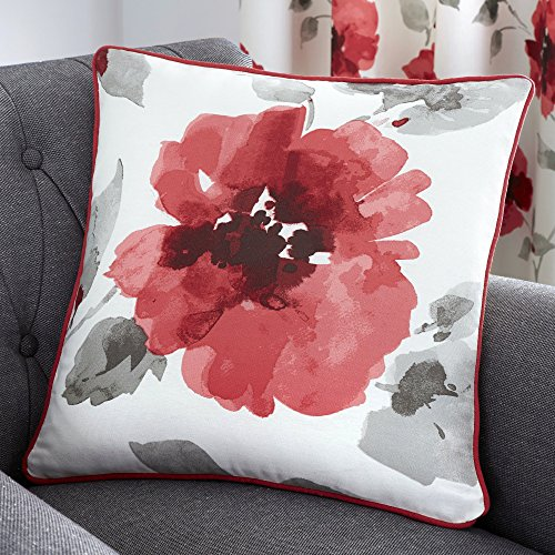 Fusion - Adriana - 100% Cotton Cushion Cover - 43x43 cm in Red