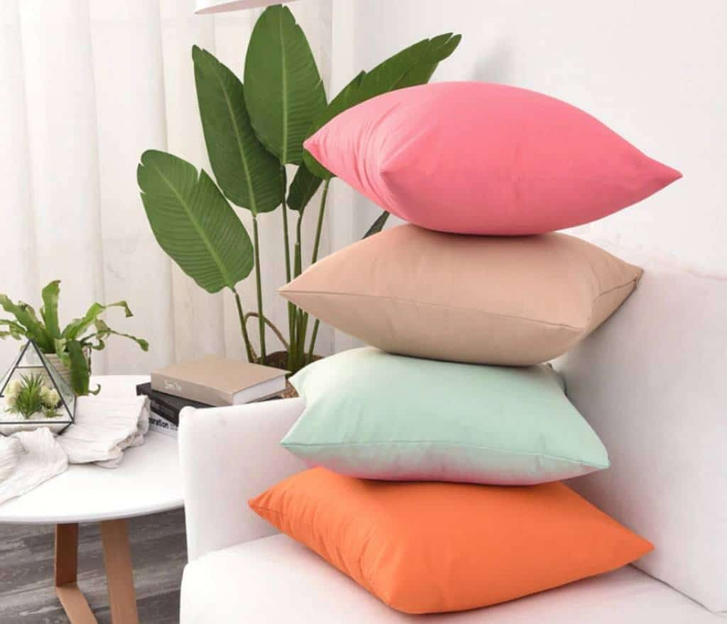 four large cushion covers on the couch