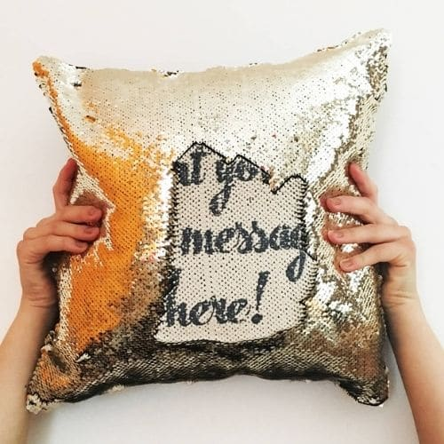 one yellow personalised cushion cover
