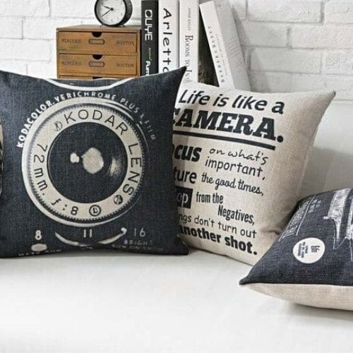 two retro and vintage cushion covers