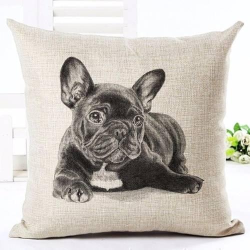 one bulldog cushion cover