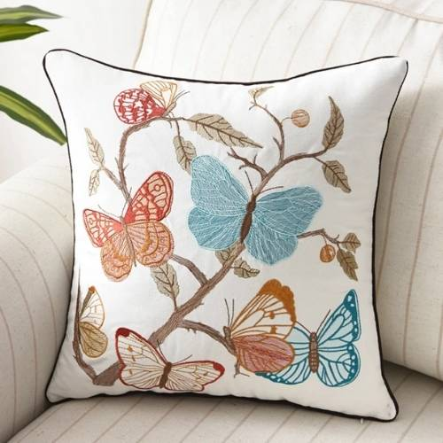 one butterfly cushion cover