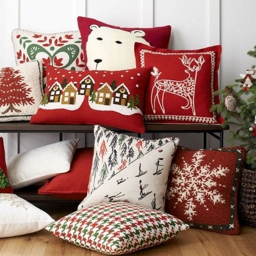 eleven christmas cushion covers