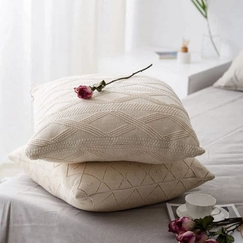 white cushion covers set of 2