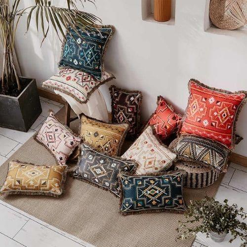 twelve ethnic cushion covers