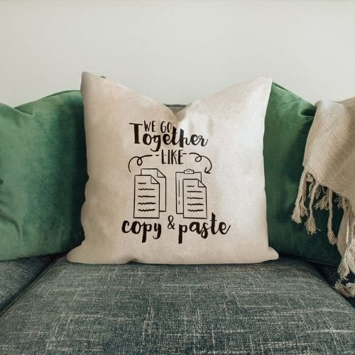 one white funny cushion covers