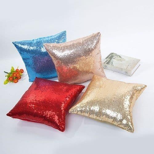 four glitter cushion covers