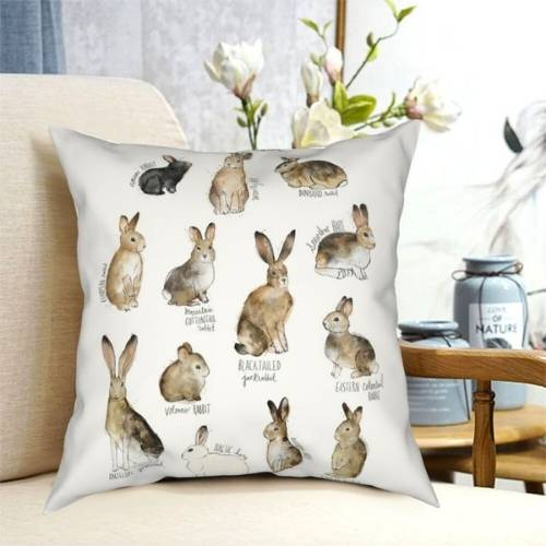 one hare cushion cover