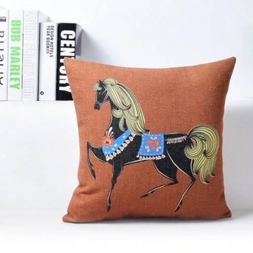 one horse cushion cover