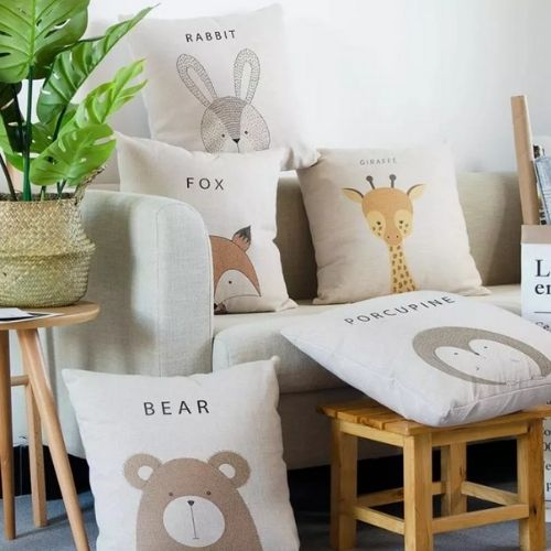 five cushion covers for kids
