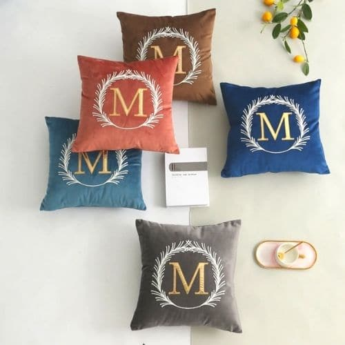five letter cushion covers