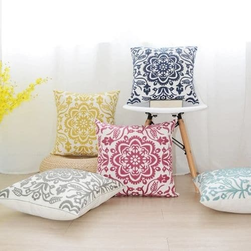 four mandala cushion covers