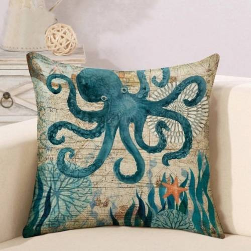 one octopus cushion cover
