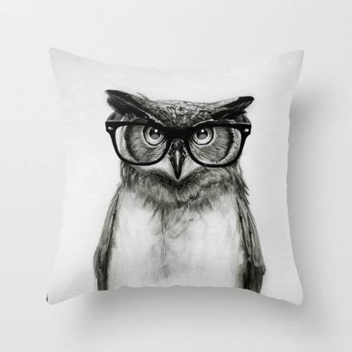 one owls cushion cover