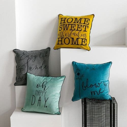 four quote cushion covers