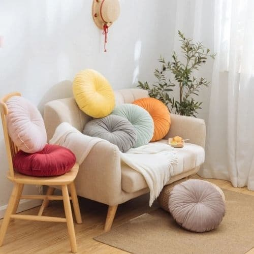 seven round cushion covers