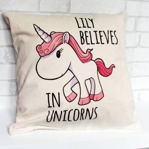 one unicorn cushion cover
